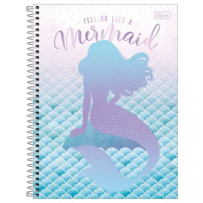 Caderno Wonder - Mermaid Life - 160 Folhas - Tilibra