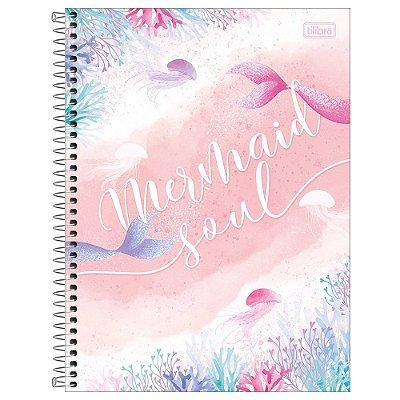 Caderno Wonder - Mermaid Soul - 256 Folhas - Tilibra