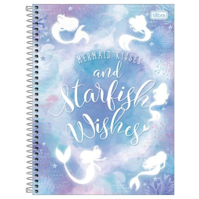 Caderno Wonder - Starfish Wishes - 256 Folhas - Tilibra