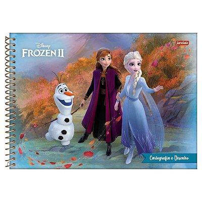 Caderno de Cartografia e Desenho Frozen 2 - Amigos - Jandaia