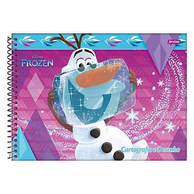 Caderno de Cartografia e Desenho Frozen - Olaf Gelo - Jandaia