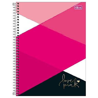 Caderno Love Pink Geometric - 320 Folhas - Tilibra