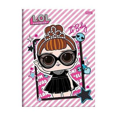 Caderno Brochura Pequeno LOL - Dark - 96 Folhas - Foroni