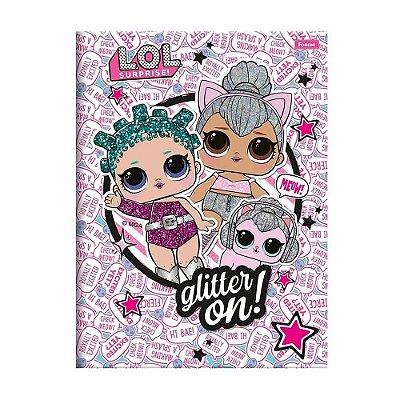 Caderno Brochura Pequeno LOL - Glitter On - 96 Folhas - Foroni