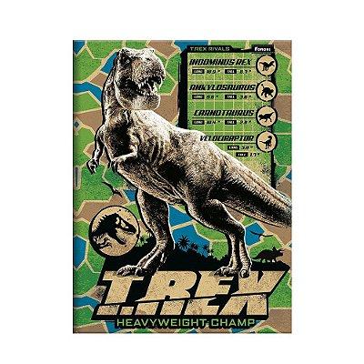 Caderno Pequeno Jurassic World T-REX - 96 Folhas - Foroni