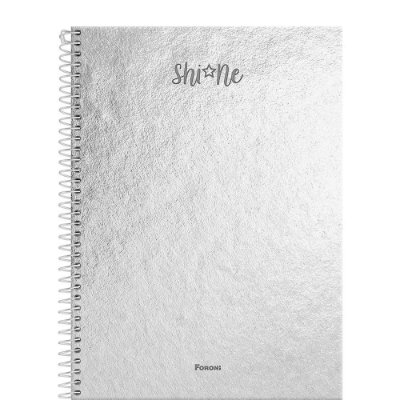 Caderno Shine - Prata - 80 Folhas - Foroni