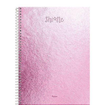 Caderno Shine - Rosa - 80 Folhas - Foroni