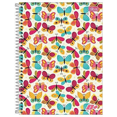 Caderno D+ - Borboletas - 96 folhas - Tilibra