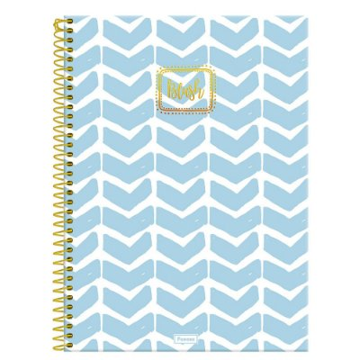 Caderno Blush - Azul - 160 folhas - Foroni