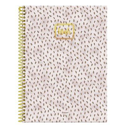 Caderno Blush - Marrom - 160 folhas - Foroni