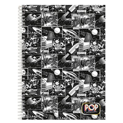 Caderno Pop Collection - Quadrinhos - 96 folhas - Foroni