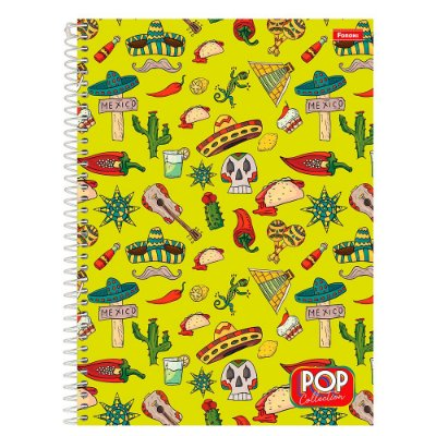 Caderno Pop Collection - México - 96 folhas - Foroni