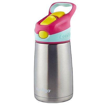 Garrafa Térmica Infantil Striker Chill 295ml - Rosa - Contigo