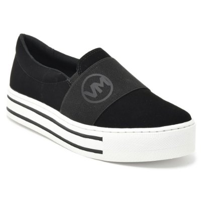 Tênis Flatform Slip On Preto - Via Marte