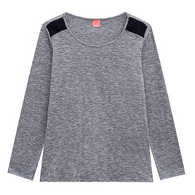 Blusa Rajada Cinza Plus Size Wee - Malwee