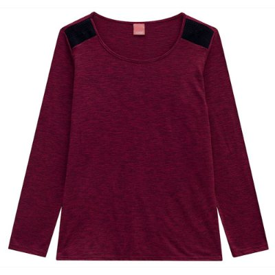 Blusa Rajada Vinho Plus Size Wee - Malwee