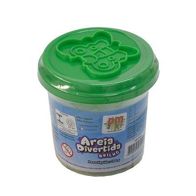 Pote Areia Divertida - Verde - DM Toys