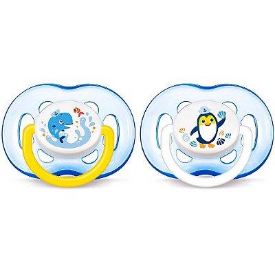 Kit Chupetas Freeflow Azul - 2 peças - Fase 3 - Philips Avent