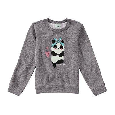 Moletom Flanelado Panda Laço - Malwee