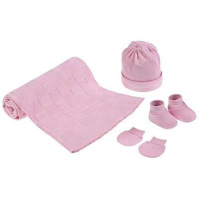 Kit Bem Vindo ao Mundo - Rosa Claro - 4 Peças - Pimpolho