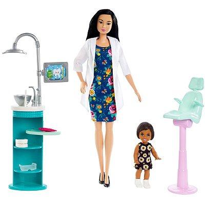 Boneca Barbie Dentista - Morena - Mattel