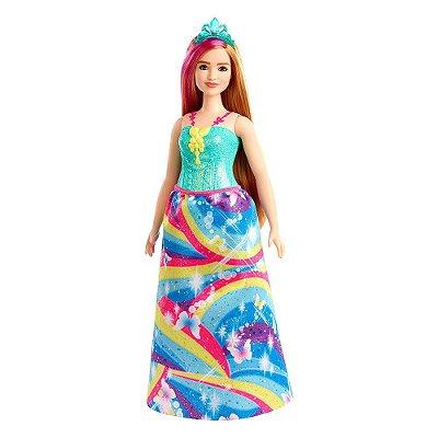 Barbie Dreamtopia Princesa Loira - Arco-Íris - Mattel