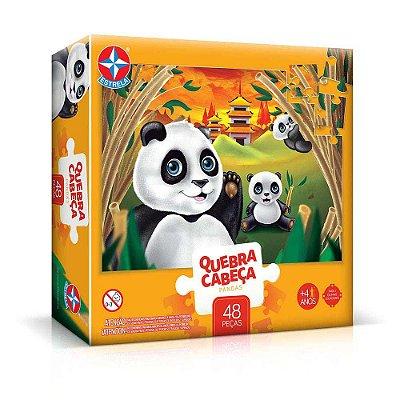 Quebra Cabeça Grandão Pandas 48 peças - Estrela