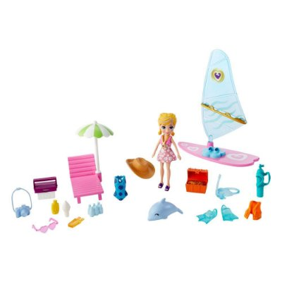 Polly Pocket - Aventura Na Praia - Polly - Mattel