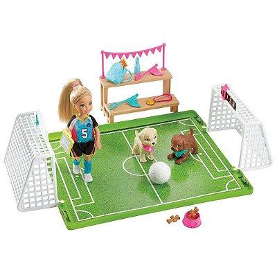 Barbie Chelsea - Jogo de Futebol com Cachorrinhos - Mattel