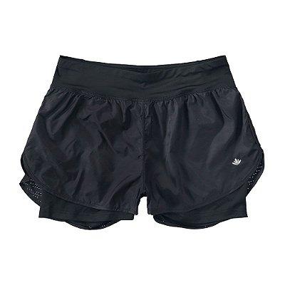 Short Duplo Nylon Preto - Malwee
