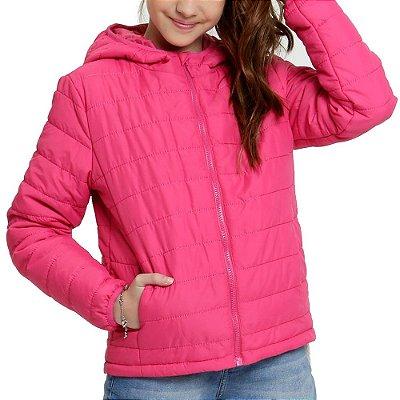 Jaqueta Infantil Capuz Puffer - Pink - Malwee