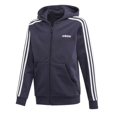 Jaqueta Infantil Capuz Essentials 3-Stripes - Adidas