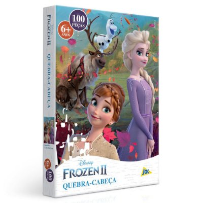 Quebra-Cabeça Elsa e Anna - Frozen 2 - 100 peças - Toyster