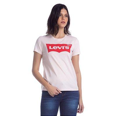 Camiseta Logo Batwing Classic Rosa Claro - Levi's