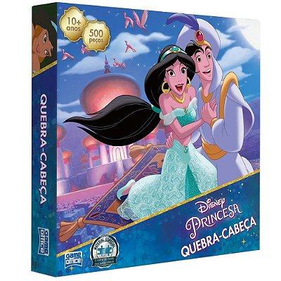 Quebra-cabeça Aladdin e Jasmine - 500 Peças - Toyster