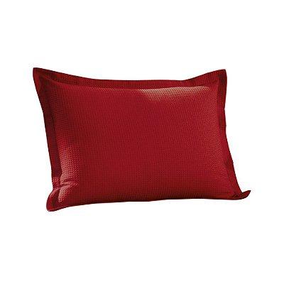Porta Travesseiro Piquet - Vermelho - Döhler