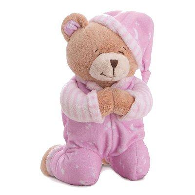 Urso de Pelúcia que Reza Rosa - Buba