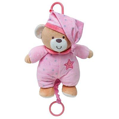 Urso de Pelúcia Musical Rosa - Buba