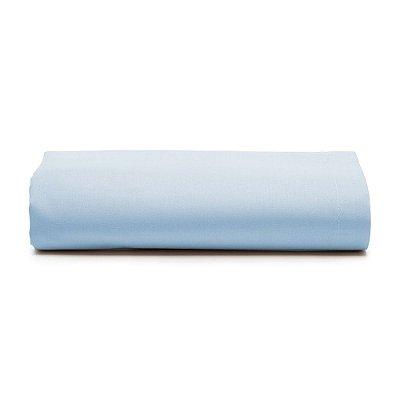 Lençol Com Elástico Prata Solteiro - Azul Céu - Santista