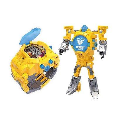 Robot Watch Amarelo - Relógio 2 em 1 - Multikids
