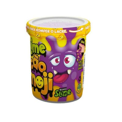 Slime Ecão Emoji - Roxo - 110g - DTC