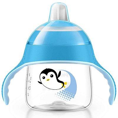 Copo Pinguim com Alças Azul - 200ml - Philips Avent