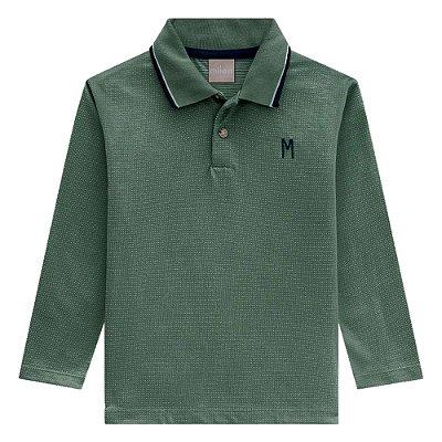 Camiseta Polo Masculina Verde - Milon