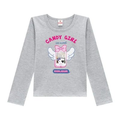 Blusa Manga Longa  Candy Girl - Brandili