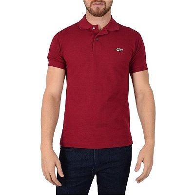 Camisa Polo Lacoste - Vinho Bordeaux