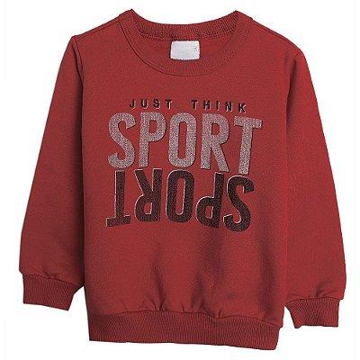 Blusa Moleton Sport Vermelha - Malwee