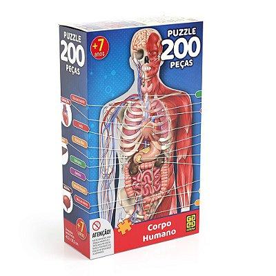 Quebra-Cabeça 200 Peças - Corpo Humano - Grow