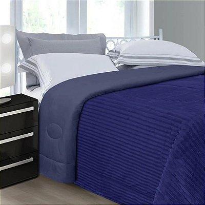 Cobertor Queen Cotelê - Azul - Naturalle