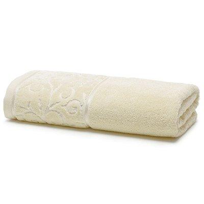 Toalha de Banho Para Bordar Melina II - Creme - Karsten