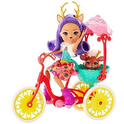 Enchantimals - Amiguinhos de Bicicleta - Danessa Deer & Sprint - Mattel